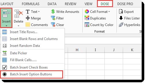 Excel Batch Insert Option Buttons