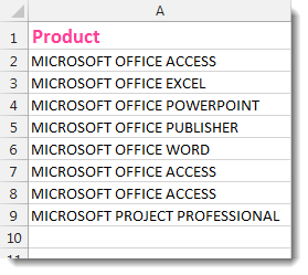 Excel Upper Case