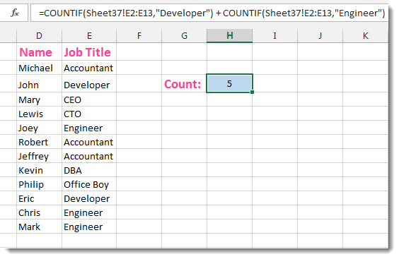 Excel Formula Helper