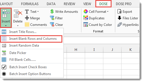 Excel Insert Multi Empty Rows And Columns