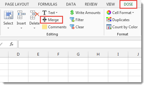 Excel Merge Cells Or Rows Or Columns