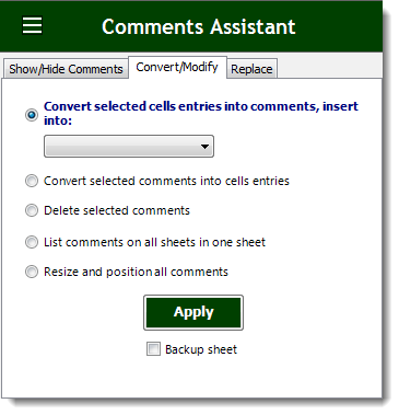 Excel Convert Or Modify Comments