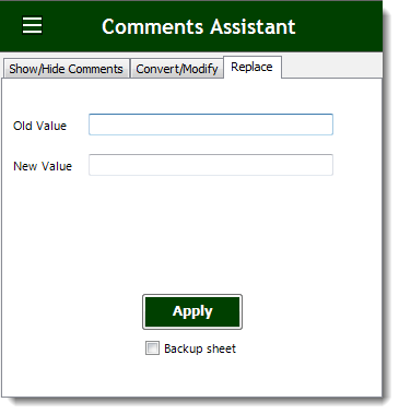Excel Replace Comments