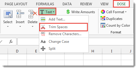 Excel Remove Leading Or Trailing Or Extra Spaces