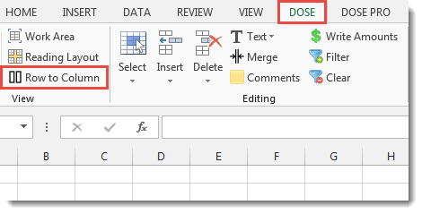 Excel Row To Column