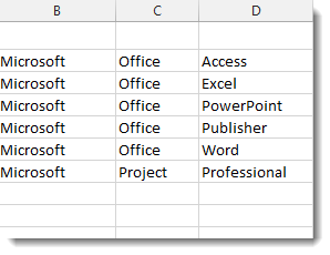 Excel Split Words Separated by