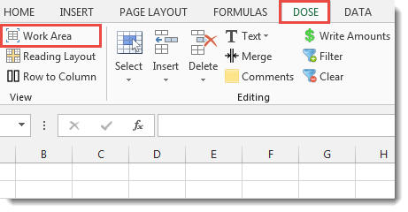 Excel Maximize Work Area