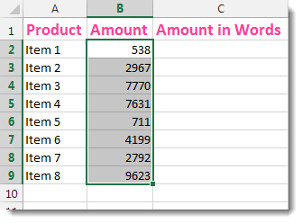Excel Convert Numbers Into Words