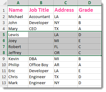 Excel Extend Selection To The Last Used Column