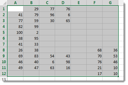 Excel Select Used Range